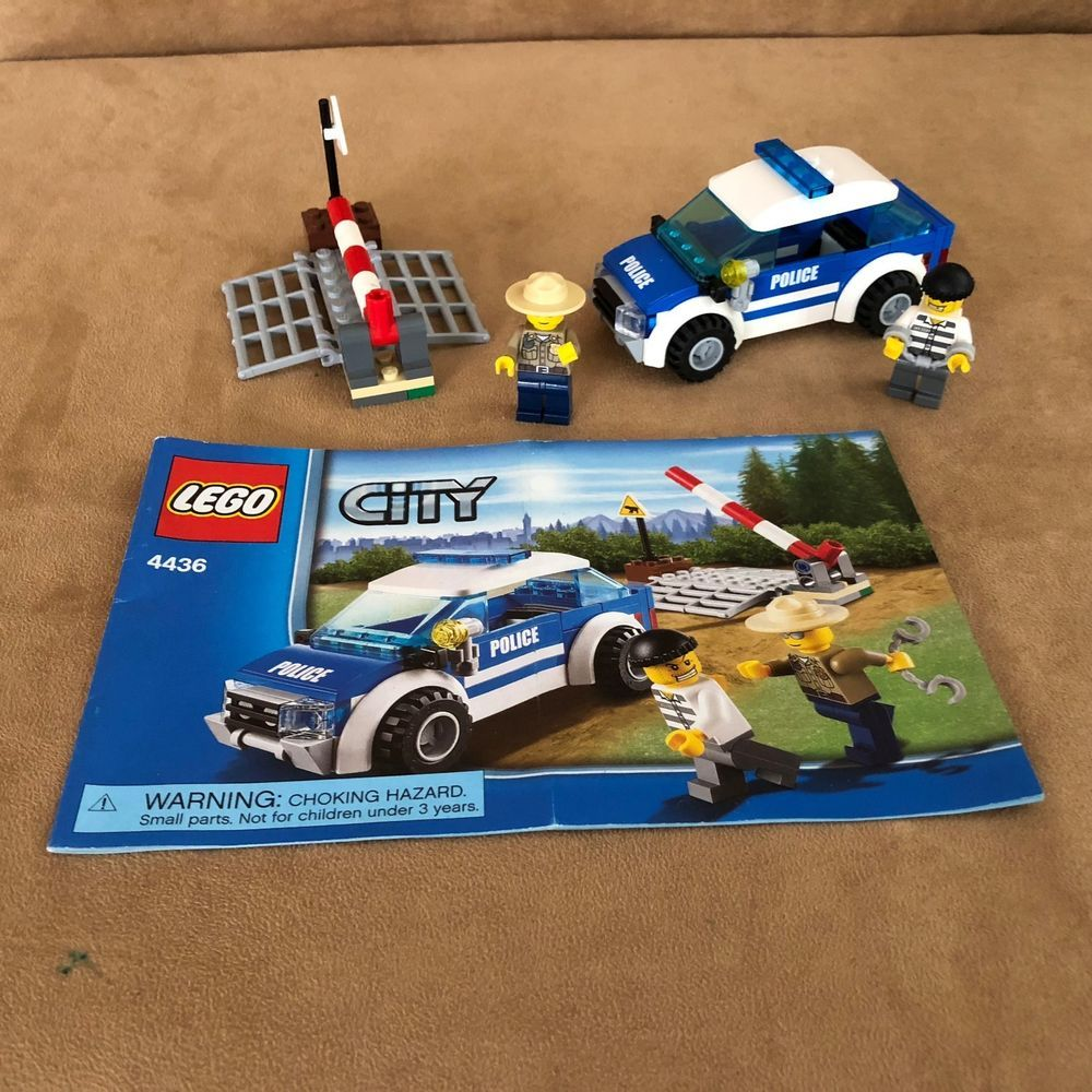 4436 Lego Complete Patrol Car City Police Instructions Robber Forest