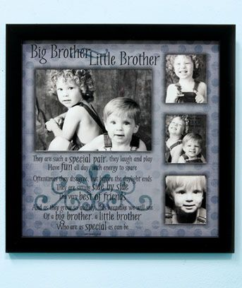sibling collage frames sibling collage frame has a sentimental poem about the special relationships of brothers
