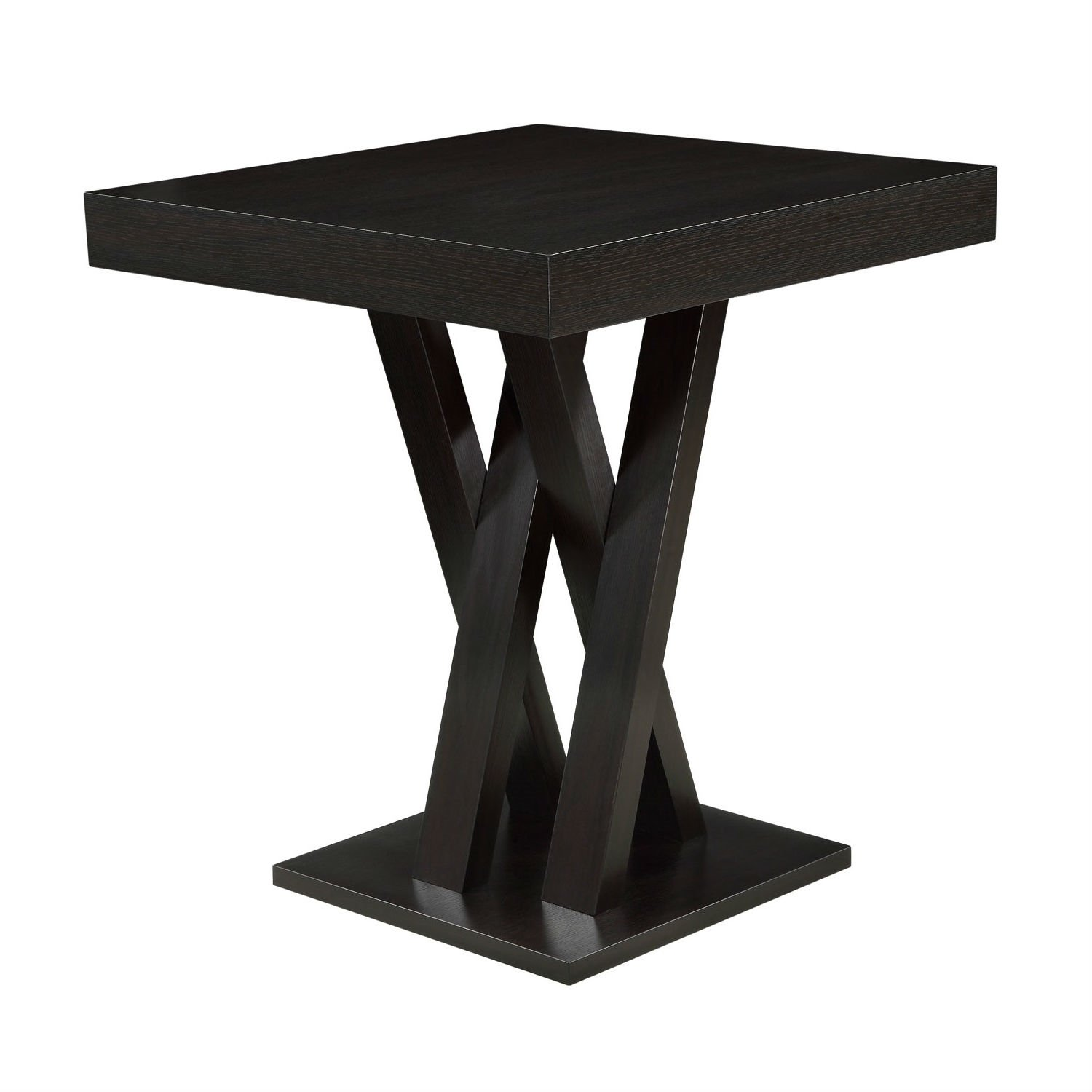 Modern 40 Inch High Square Dining Table In Dark Cappuccino Finish Wooden Bar Table Pub Table Dining Table In Kitchen