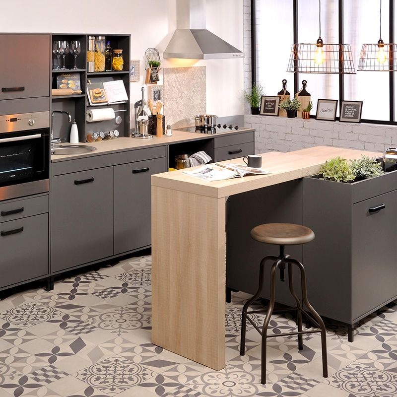 cuisine gris bois ideas cuisine