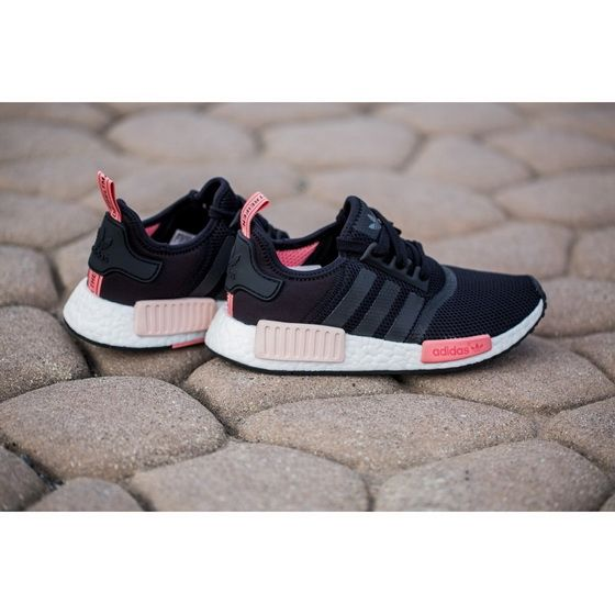 Shoe Adidas NMD Runner Womens Black Peach Pink Sell at a Discount