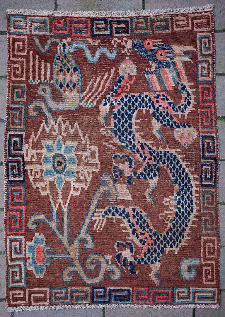 Unique Design Antique Tibetan Dragon Rug In 2019 Rugs