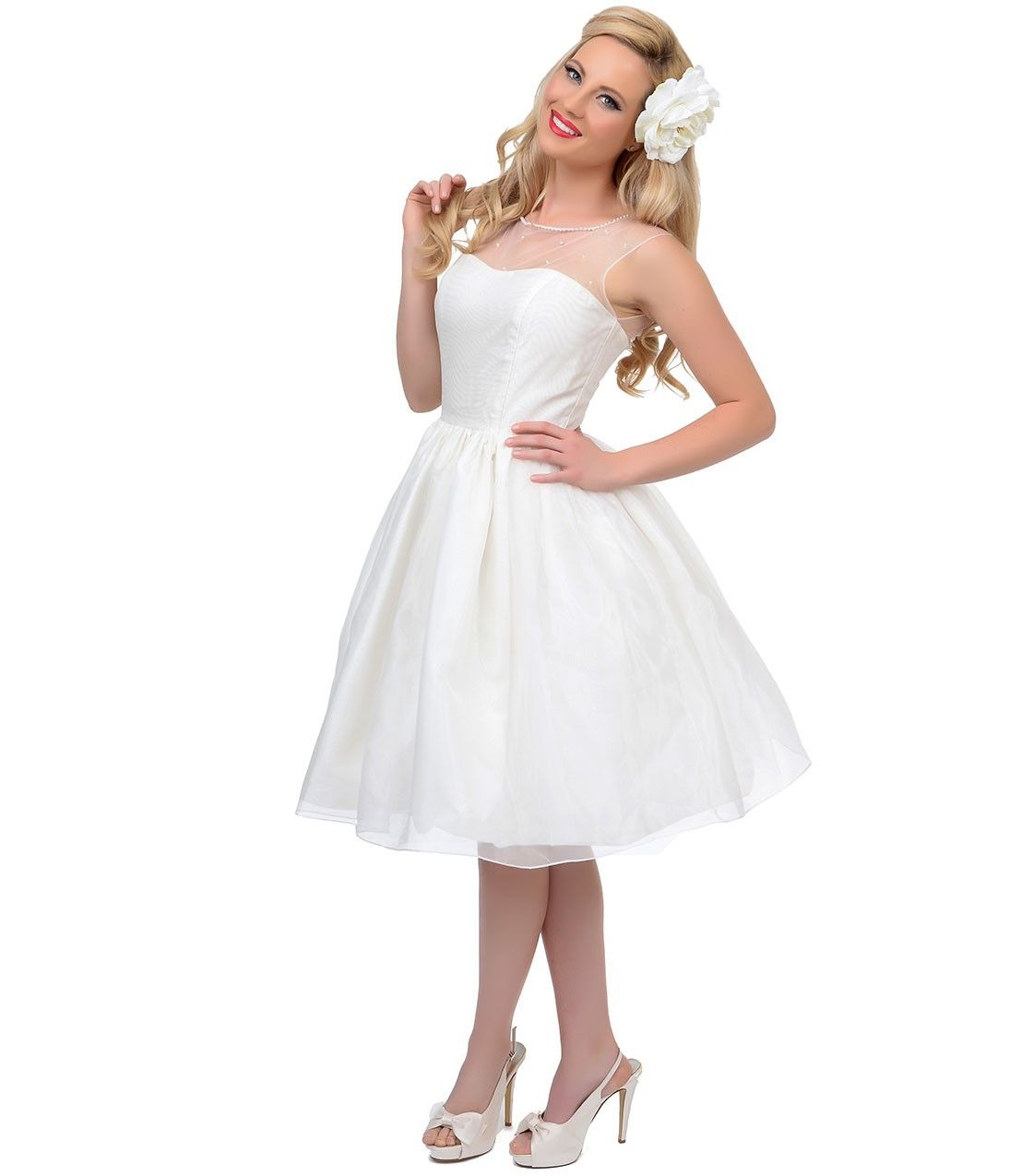 Uniquevintage s style pearl illusion belle wedding dress vintage