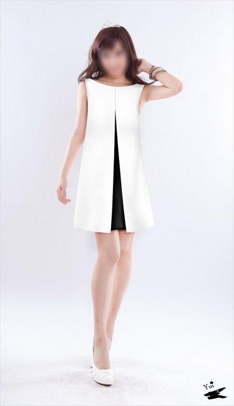 7c13c86032b Robe noir et blanche chic