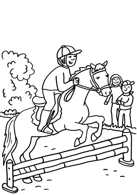 Ausmalbilder Pferde Springreiten Ausmalbilder Pferde