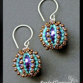 Beaded Delights Beadwoven Earrings Tutorial Beading Earring Pattern Bead Seed Beads Only