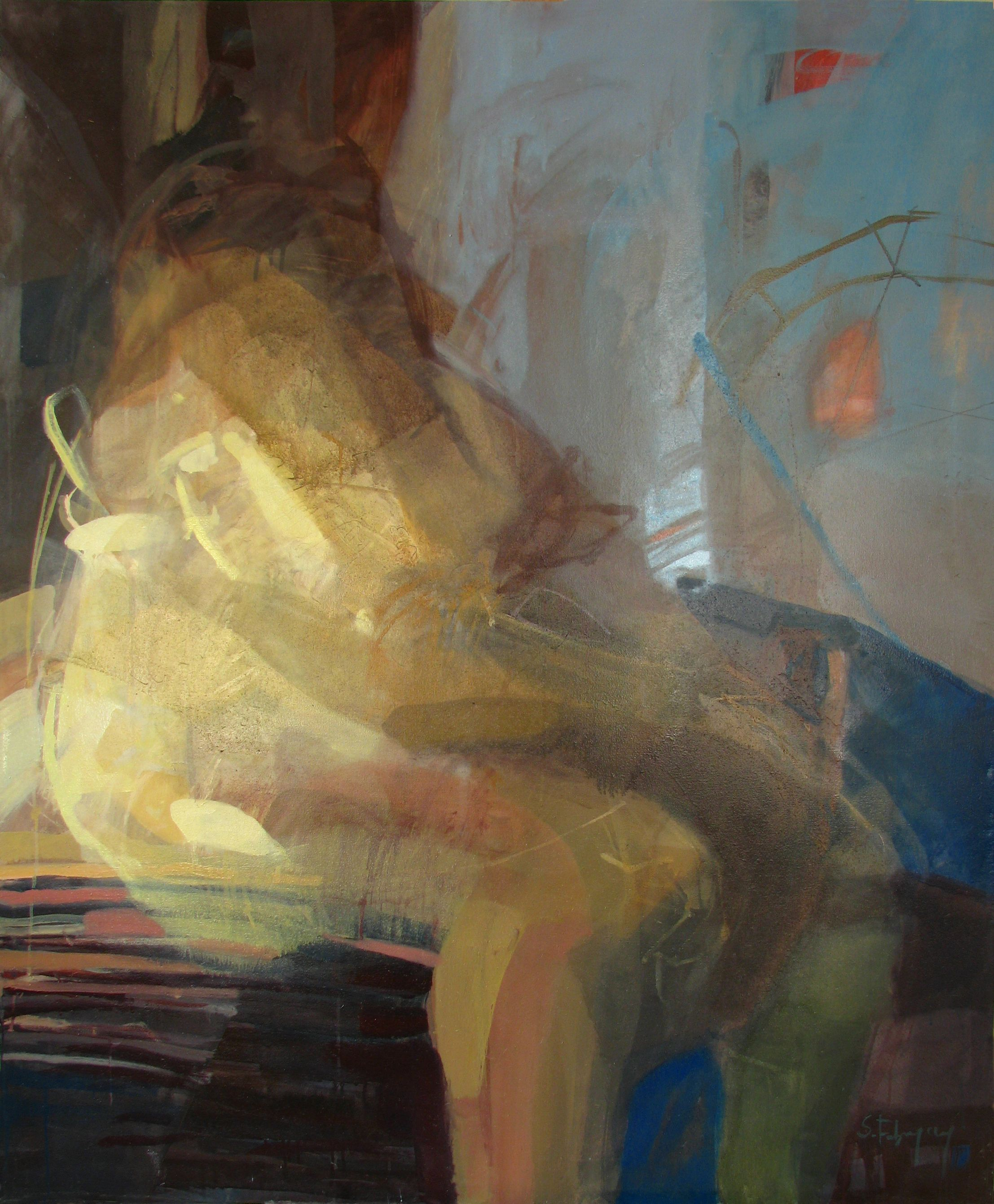 Saatchi art oil painting rural landscape at dawn painting by - Saatchi Art Nude Iii Painting By Sabina Fabryczny