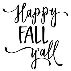 Silhouette Design Store: Happy Fall Y'all Phrase
