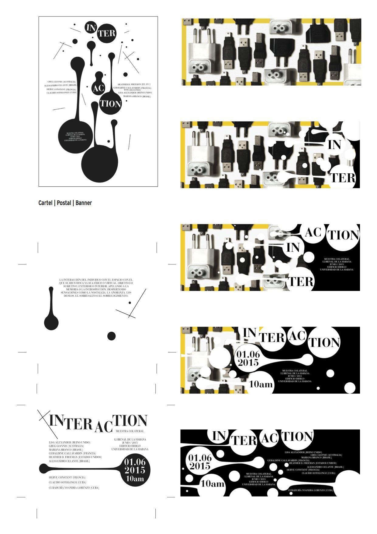 Interaction. diseño integral para exposición colectiva internacional. 12 Bienal de La Habana.