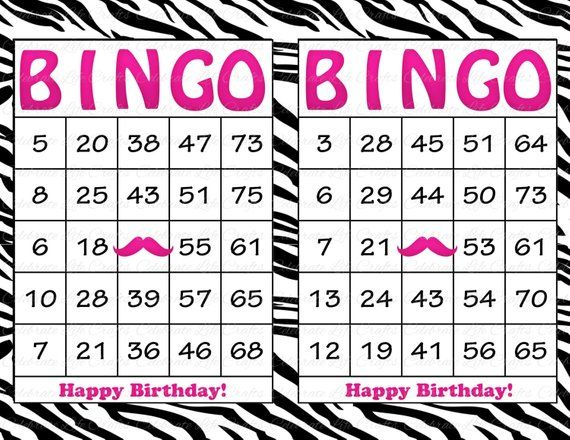 picture about Printable Bingo Chips named 30 Scorching Crimson Zebra Mustache Birthday Printable Bingo Playing cards
