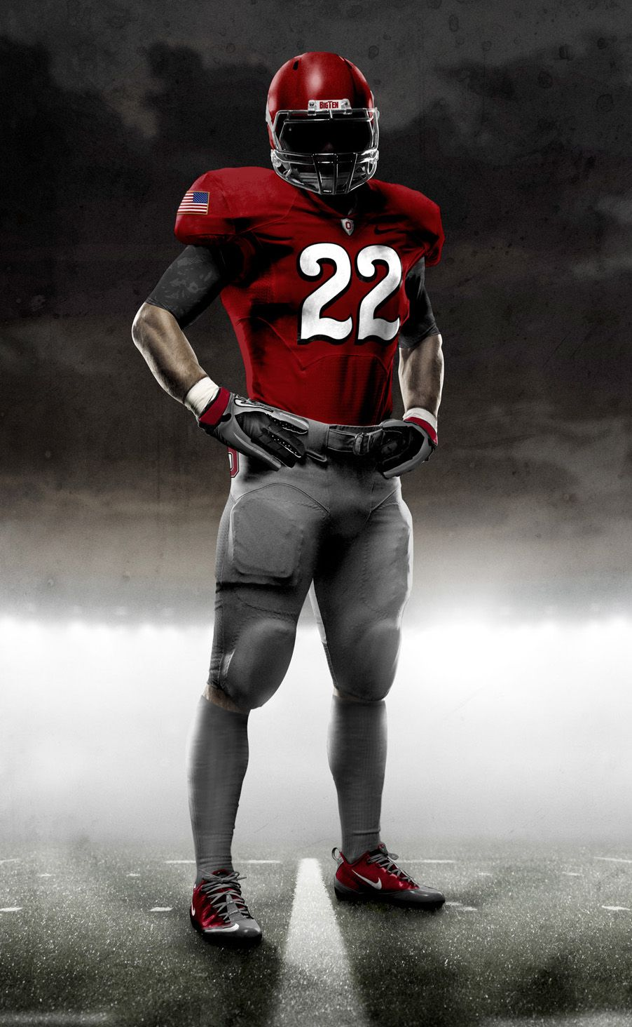 Nike Unveiled The Designs Monday For The Pro Combat Uniforms That Ohio State Will Wear Against Michigan On Nov 27 The Second Consecutive Year Osu Will Do アメフト