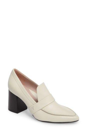 edcfd7b2ca TARYN ROSE MARCELLA BLOCK HEEL LOAFER PUMP. #tarynrose #shoes ...