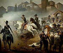"""Cavalleggeri del 3º Reggimento """"Savoia Cavalleria"""" durante la battaglia di Pastrengo"""