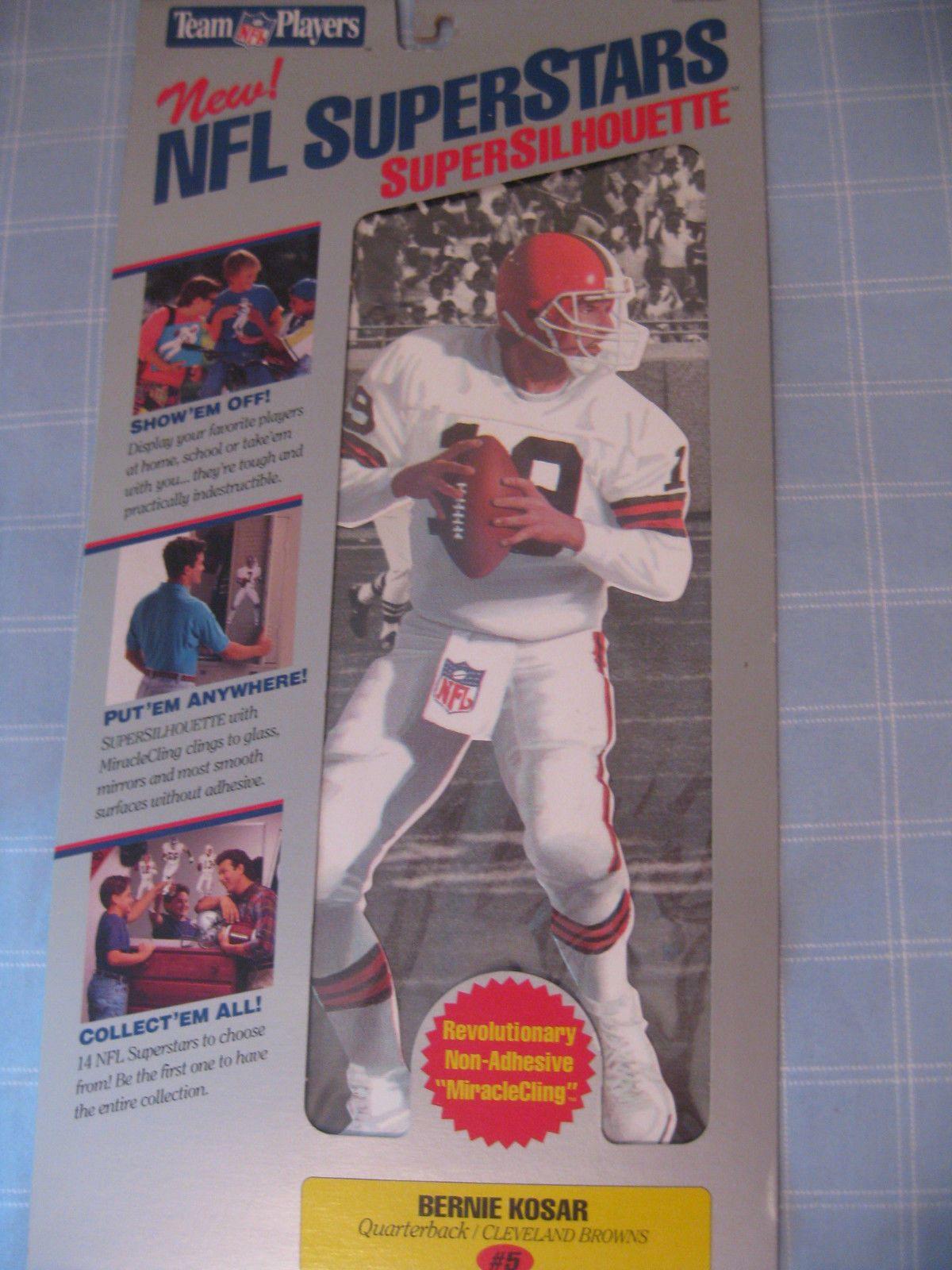 BERNIE KOSAR SUPER SILHOUETTE VINTAGE PRE FATHEAD NFL LEGEND NEW SEALED PACKAGE