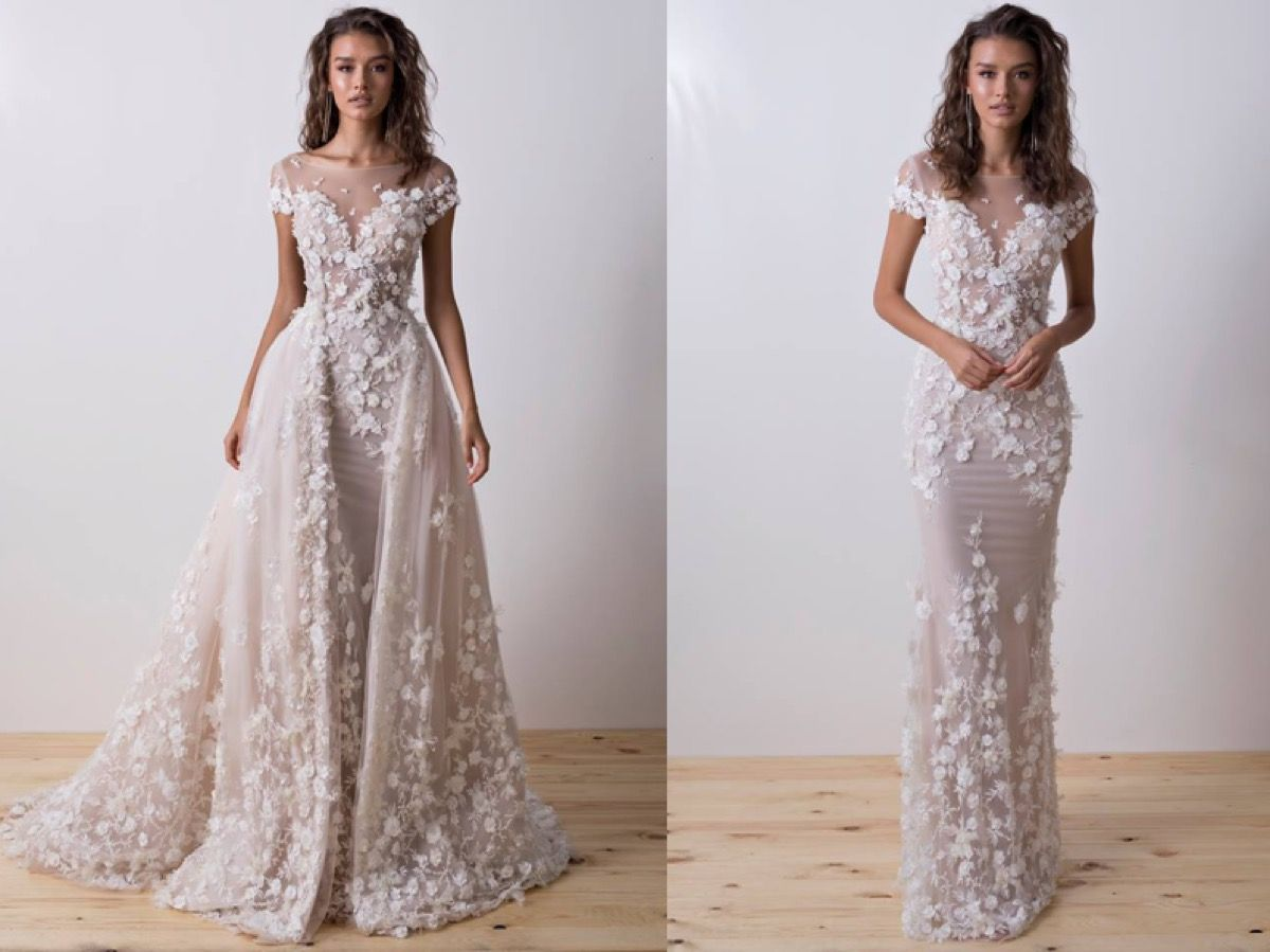 Transform Your Bridal Look From Day To Night In This 2 In 1 Wedding Dress From Dimitrius Dalia Wedding Dresses Beaded Wedding Dresses Princess Ball Gowns [ 899 x 1200 Pixel ]