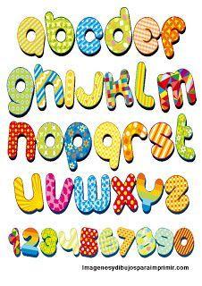 Abecedario divertido para ni os ense anza lengua ni os - Letras infantiles para decorar ...
