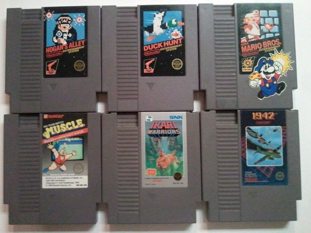 Lot Of 6 Original Vintage Nintendo Nes Game Cartridges Mario Duck Hunt 1942 Ebay Wholesale Lots Ebay Auction