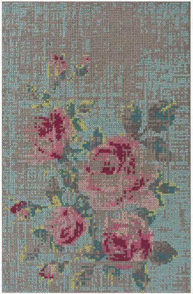 linge de lit gan GAN rugs Vloerkleed Canevas Flowers Colour   Pinterest   Ciel de  linge de lit gan