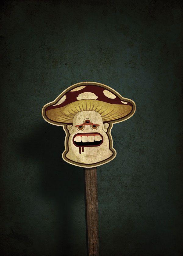 monster sticker illustration series by ezequiel matteo.