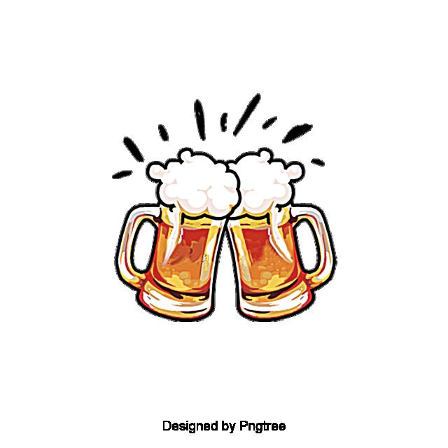 Aesthetic Cartoon Beer Summer Drink, Beautiful, Exquisite