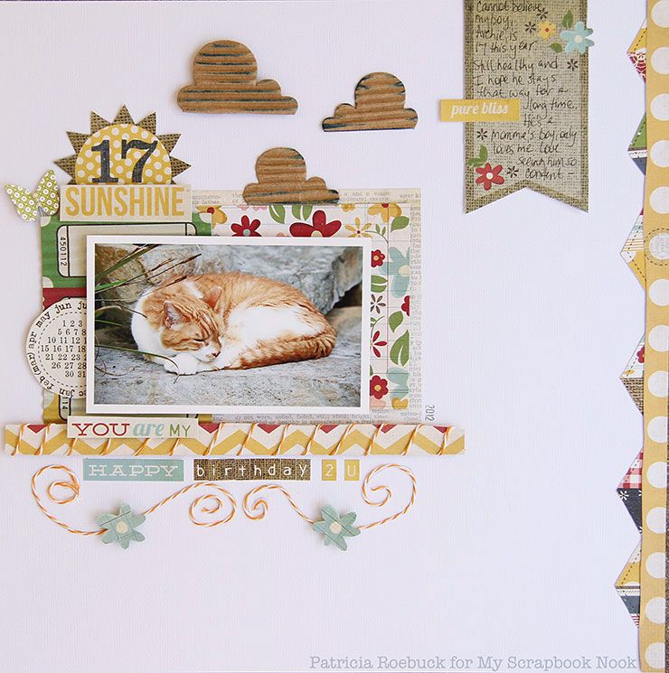 Scrapbooking- you are my Sunshine layout.