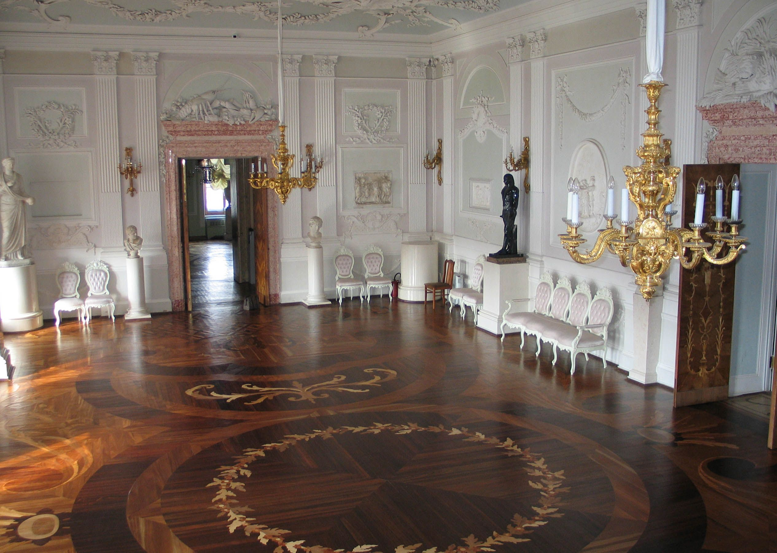 The White Hall Of Gatchina Palace An Early Example Italianate Neoclassical Interior Design In Russian Architecture Location Picture