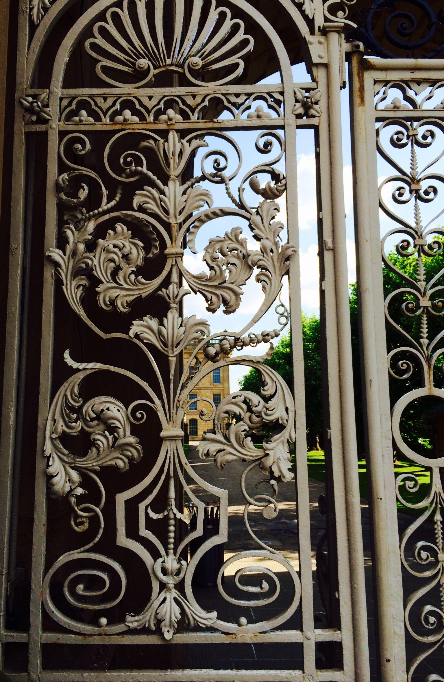 The gate at chatsworth house estate. | ковка | Pinterest | Rejas ...