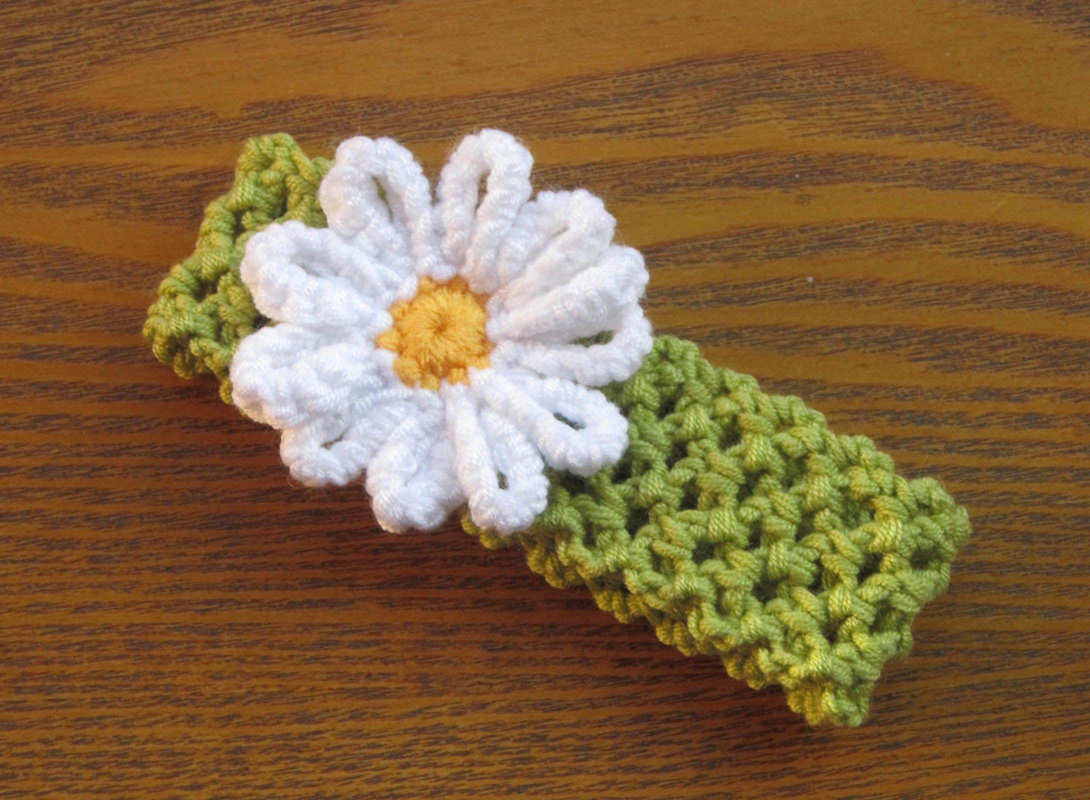 Crochet Daisy Headband Crochet Headbands Pinterest