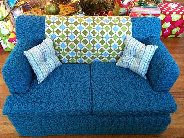 Kitty Couch Crochet Cat Bed Crochet Furniture Cat Couch