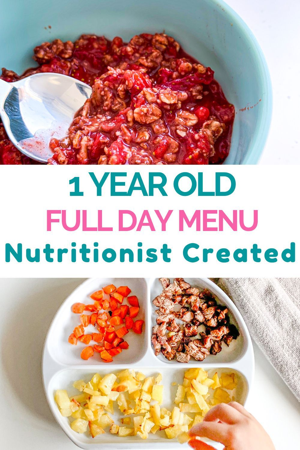 1 Year Old Meal Plan - Nutritionist Approved   Creative ...