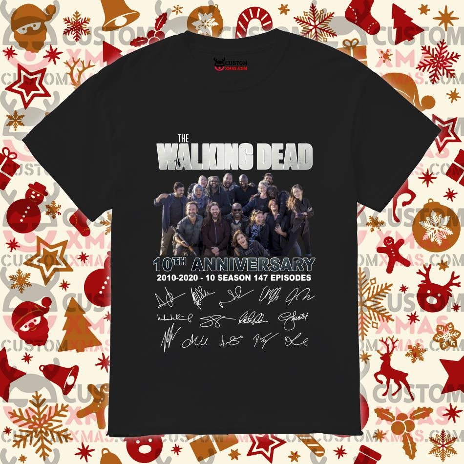 The Walking Dead 10th anniversary 2010 2020 signatures
