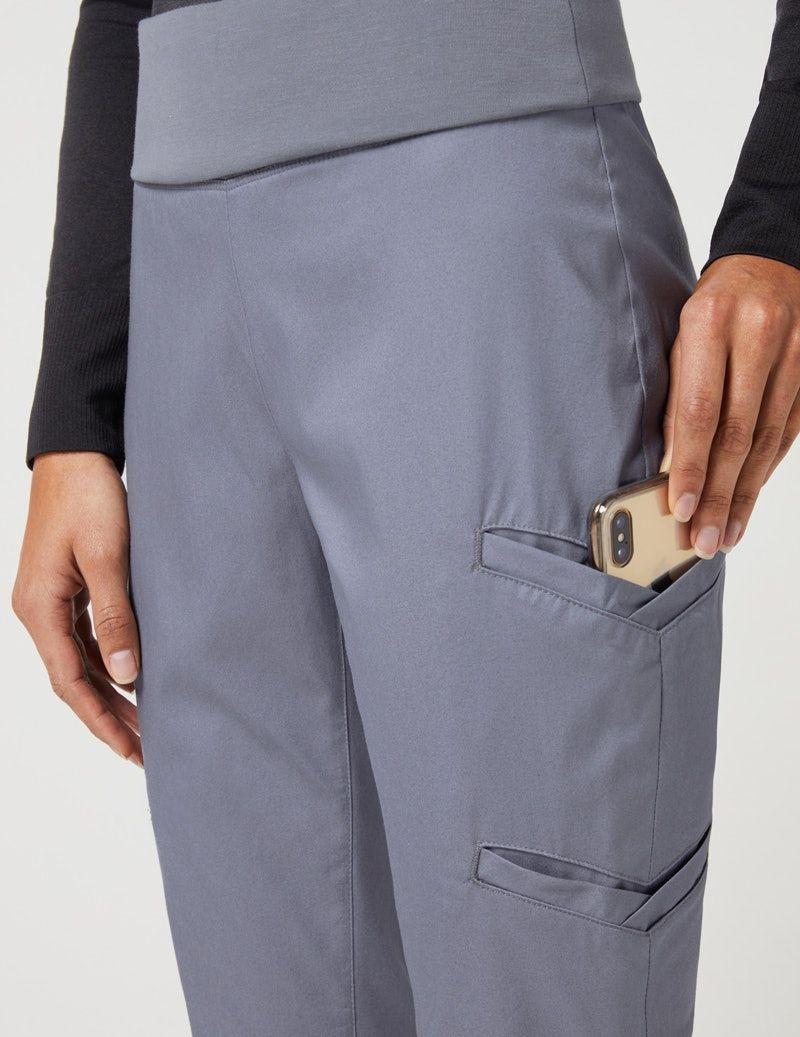 1278215dc3 Yoga Waist Pant in Graphite - Medical Scrubs | Scrubs | Bermuda ...