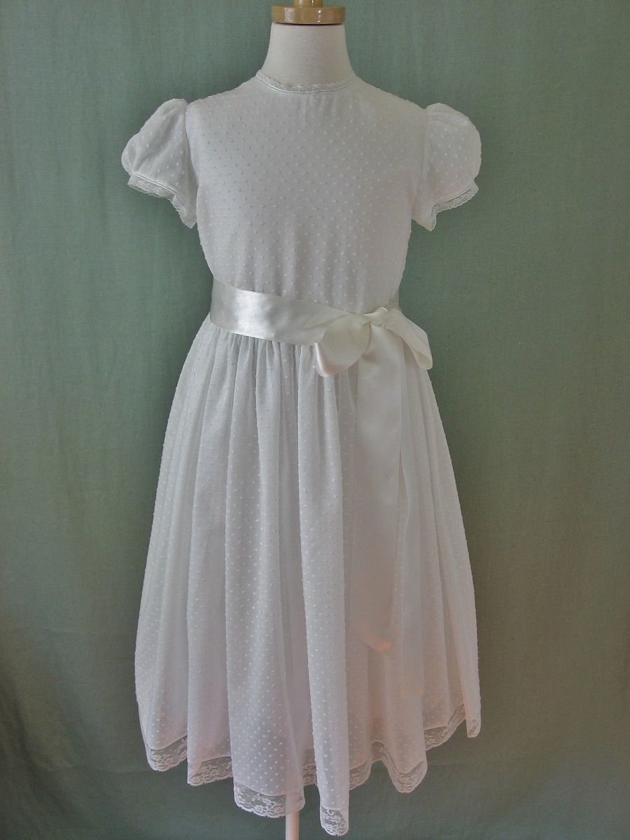 cf4b9b67 Dotted Swiss, my personal favorite First Communion Dress, Audrey by  Embroidered Heirlooms