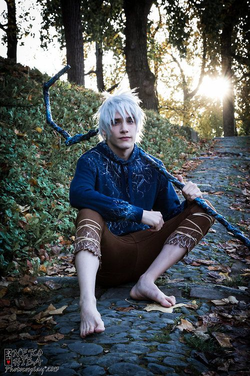 my inspiration for michaels halloween costume so excited he picked jack frost