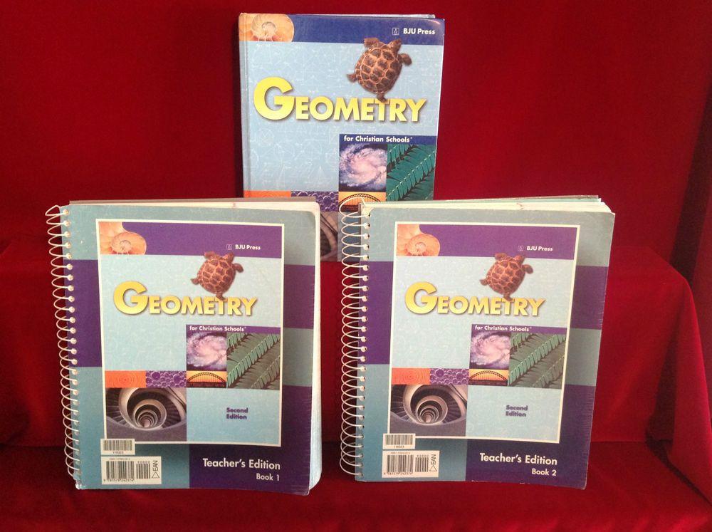 Bob jones geometry student hb, 2nd or 3rd ed, homeschool /school.