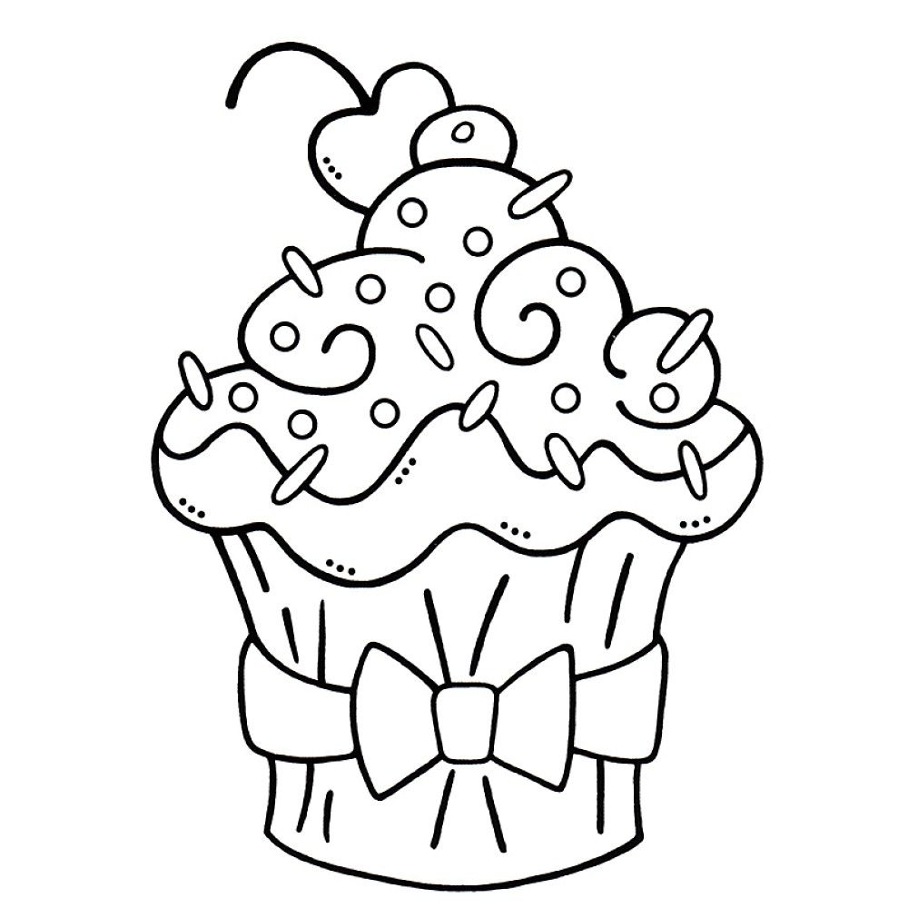 Top free printable cupcake coloring pages online digi stamps