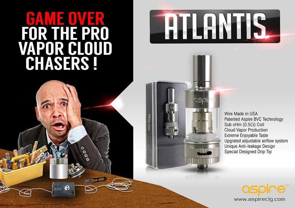 Aspire Atlantis Sub Ohm Tank With Images Atlantis Vape Aspire