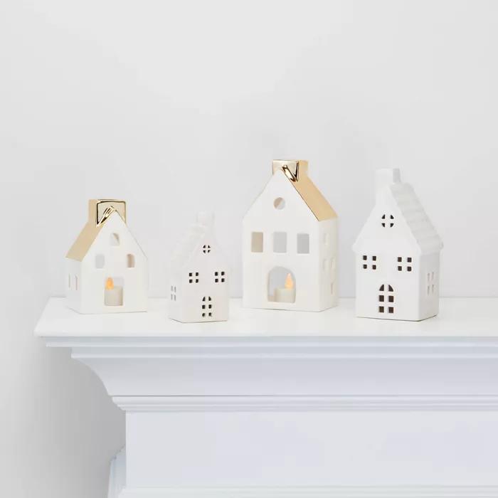 Medium Ceramic House Decorative Figure White Wondershop Target Ceramic Houses Decor House