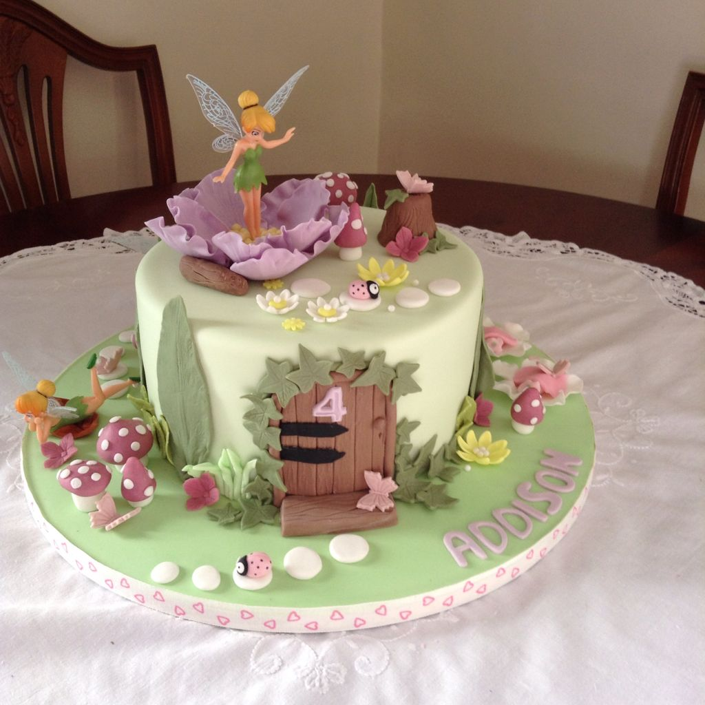 Stupendous Tinkerbell Fairy Birthday Cake With Images Fairy Birthday Cake Personalised Birthday Cards Sponlily Jamesorg