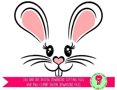 easter bunny rabbit face svg dxf eps png files digital rh pinterest co uk