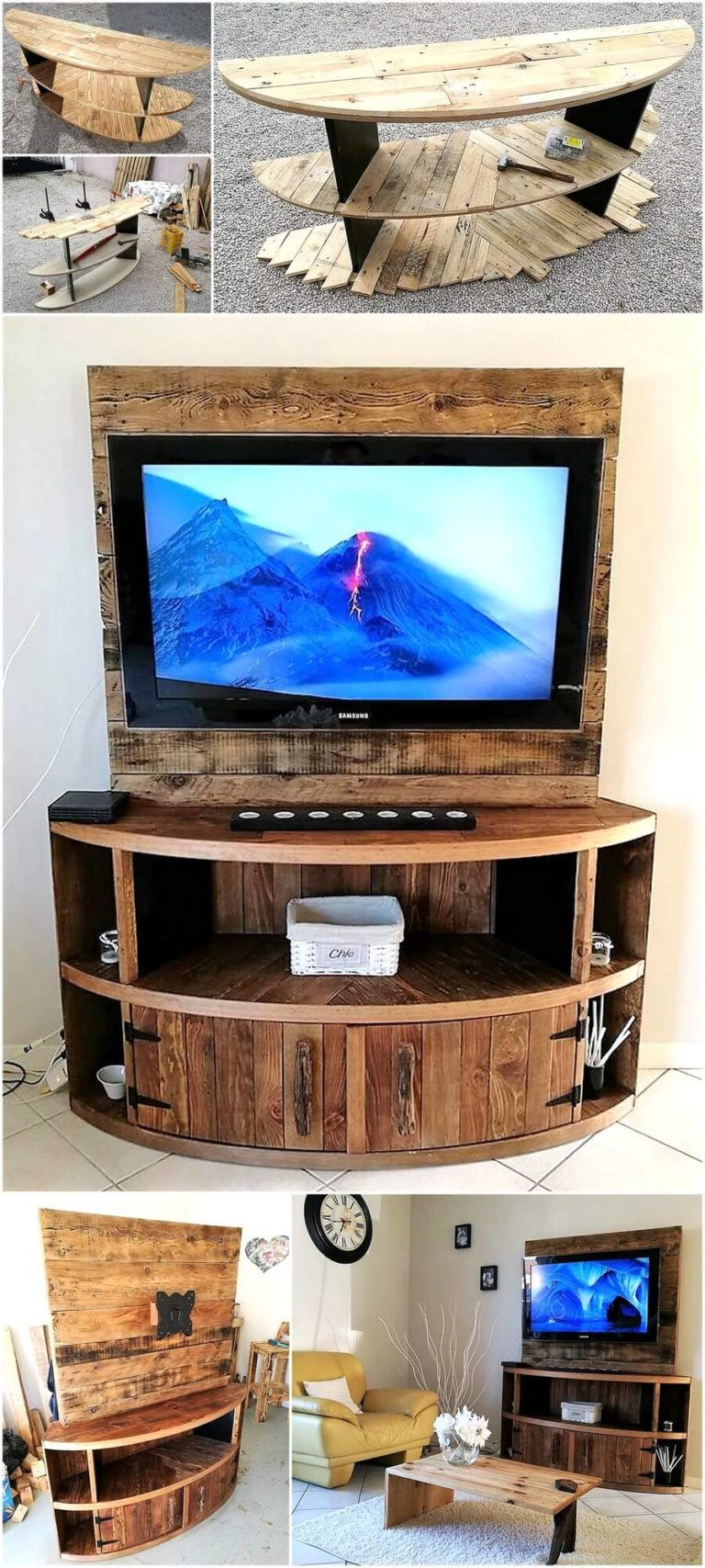 Diy wood pallet tv stand plan in 2020 tv stand plans