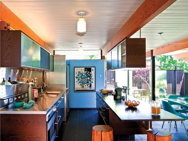 Love The Kitchen Wood And Glass Cabinets Stailess Steel