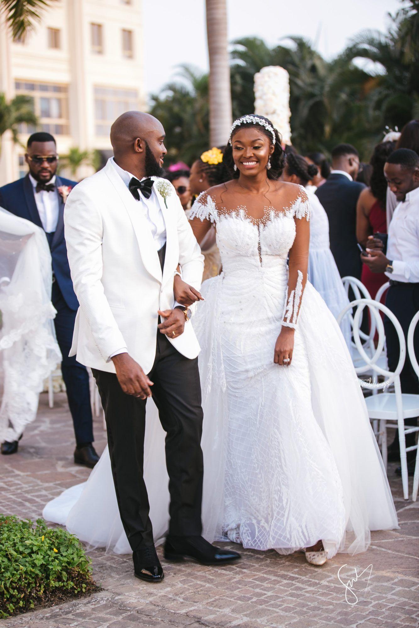 Amanda Sydney S Outdoor White Wedding In Ghana Is Goals In 2020 White Wedding Ceremony White Wedding Online Wedding Dress