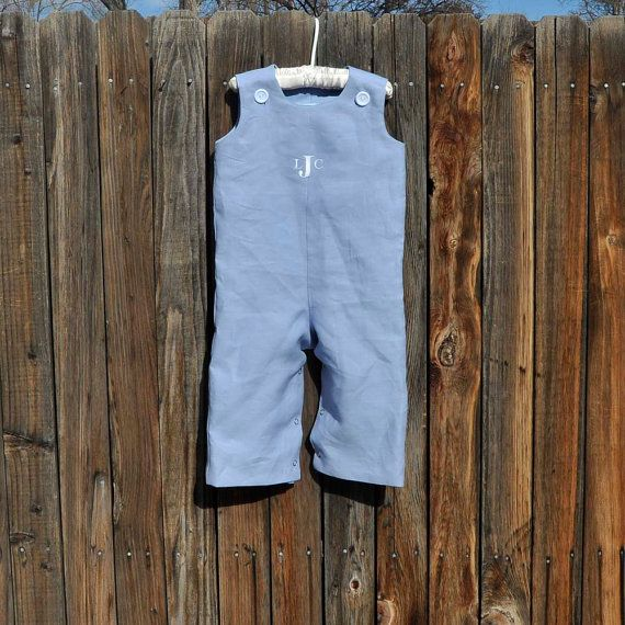 Boys Linen Longalls...Easter Rustic Beach by SageNThymeDesigns