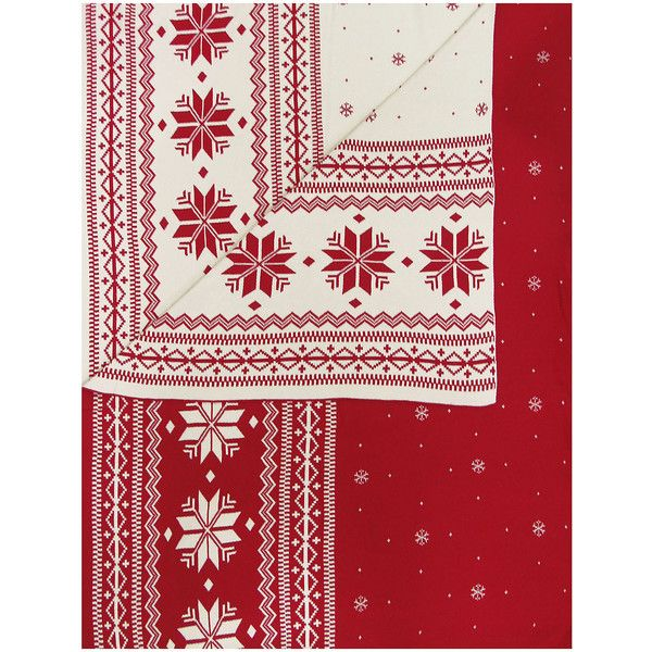 Knitted Cotton Fair Isle Throw found on Polyvore featuring home ...
