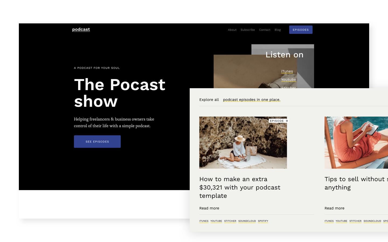 Podcast Podcast Html5 Responsive Website Template Website Template Responsive Website Template Personal Website Templates