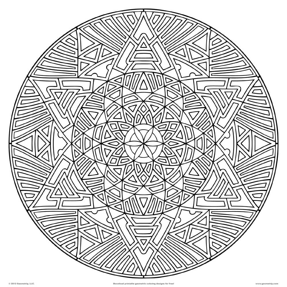 Hard Mandala Coloring Pages For Teenagers | ВАН ГОГ | Pinterest ...