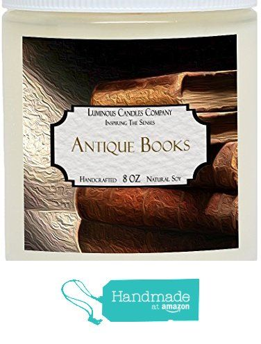 Scented Candle Antique Books 8 Oz Vintage Leather Bound Book Fragrance By Luminous Candles Company From Luminous Antique Books Vintage Candles Book Candle