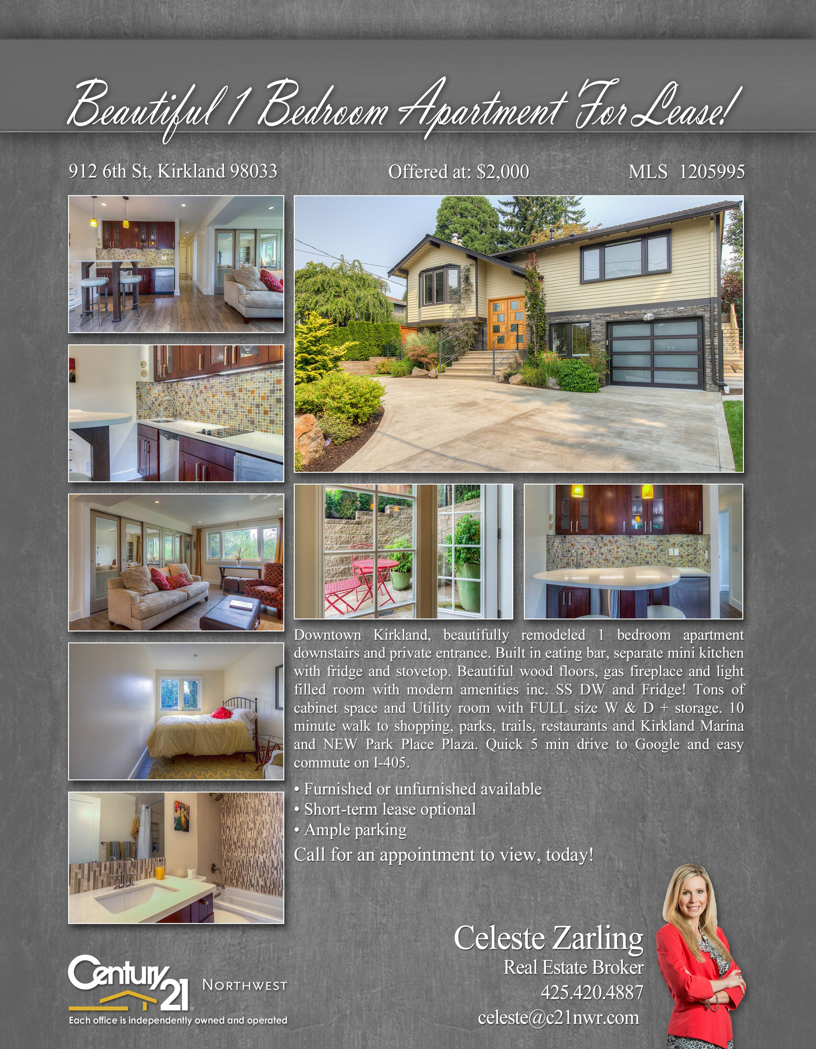NEWLISTING Downtown Kirkland, beautifully remodeled 1 bedroom ...