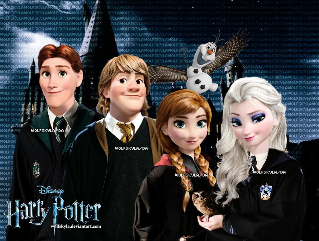 Hp X Frozen By Wolfskyla On Deviantart Disney Hogwarts Disney Princess Pictures Harry Potter Universal
